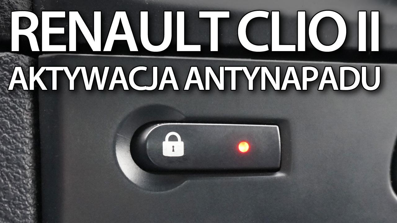 Automatyczne zamykanie centralnego zamka Renault Clio II