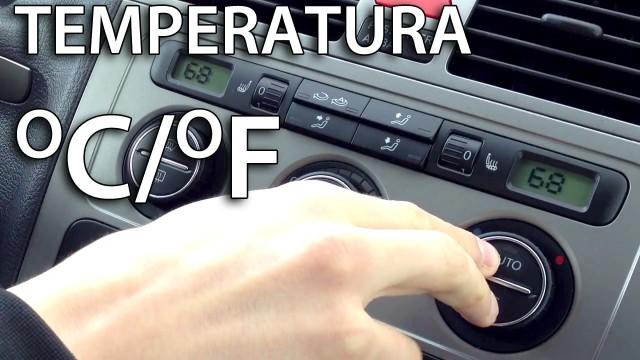 VW Climatronic zmiana temperatury z Celsjusza na Fahrenheita