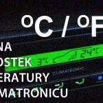 Climatronic zmiana jednostek temperatury VW / Škoda