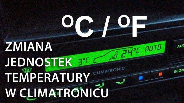 Climatronic zmiana jednostek temperatury VW Škoda