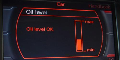 Poziom oleju Audi MMI 2G, aktywacja wskazania
