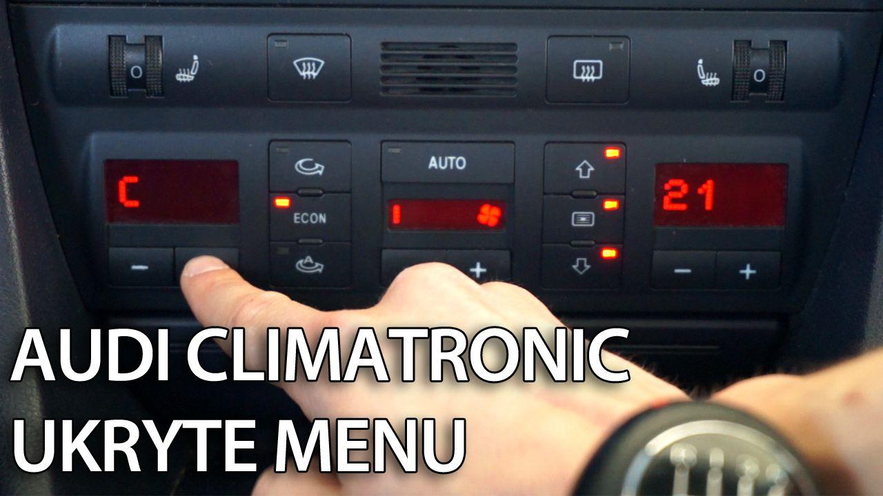 Audi A6 C5 Climatronic ukryte menu