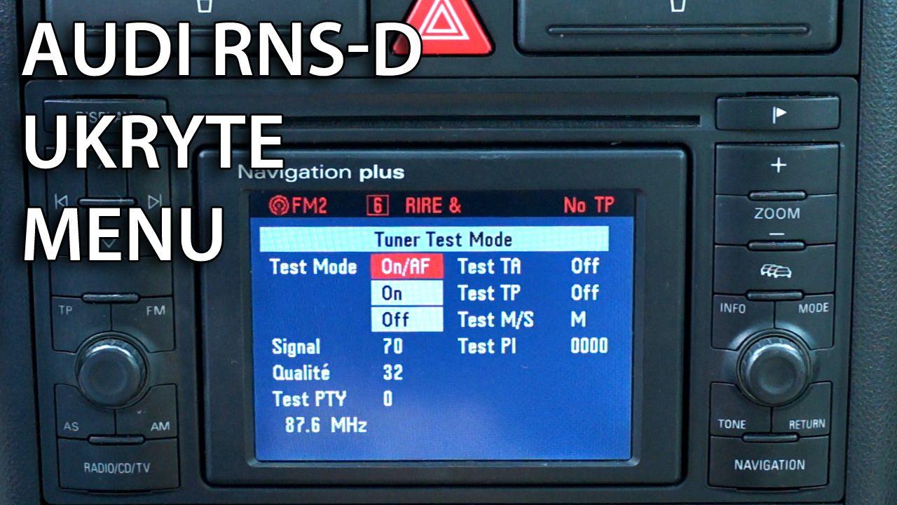 ukryte menu serwisowe RNS-D Audi