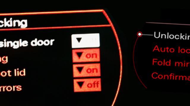 Audi A4 automatycznie składane lusterka