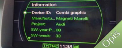 MMI 2G ukryte zielone menu