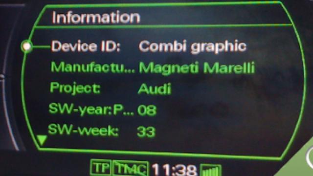 Ukryte zielone menu Audi MMI 2G