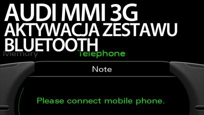 Audi MMI 3G bluetooth aktywacja