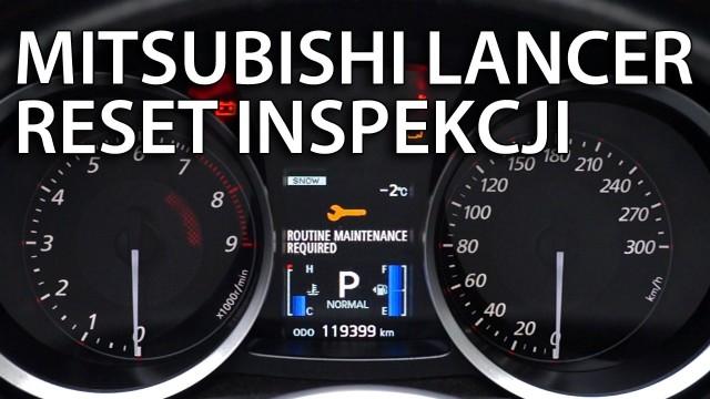 Kasowanie inspekcji Mitsubishi Lancer X