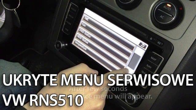 Ukryte menu serwisowe RNS 510