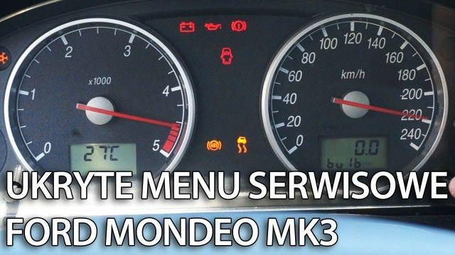 Ford Mondeo MK3 test zegarów