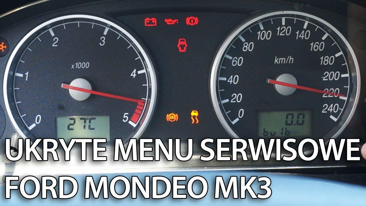 Ford Mondeo Mk3 Test Zegar 243 W I Ukryte Menu Serwisowe Mr