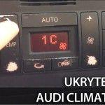 Climatronic ukryte menu w Audi A2, A3 8L, A4 B6