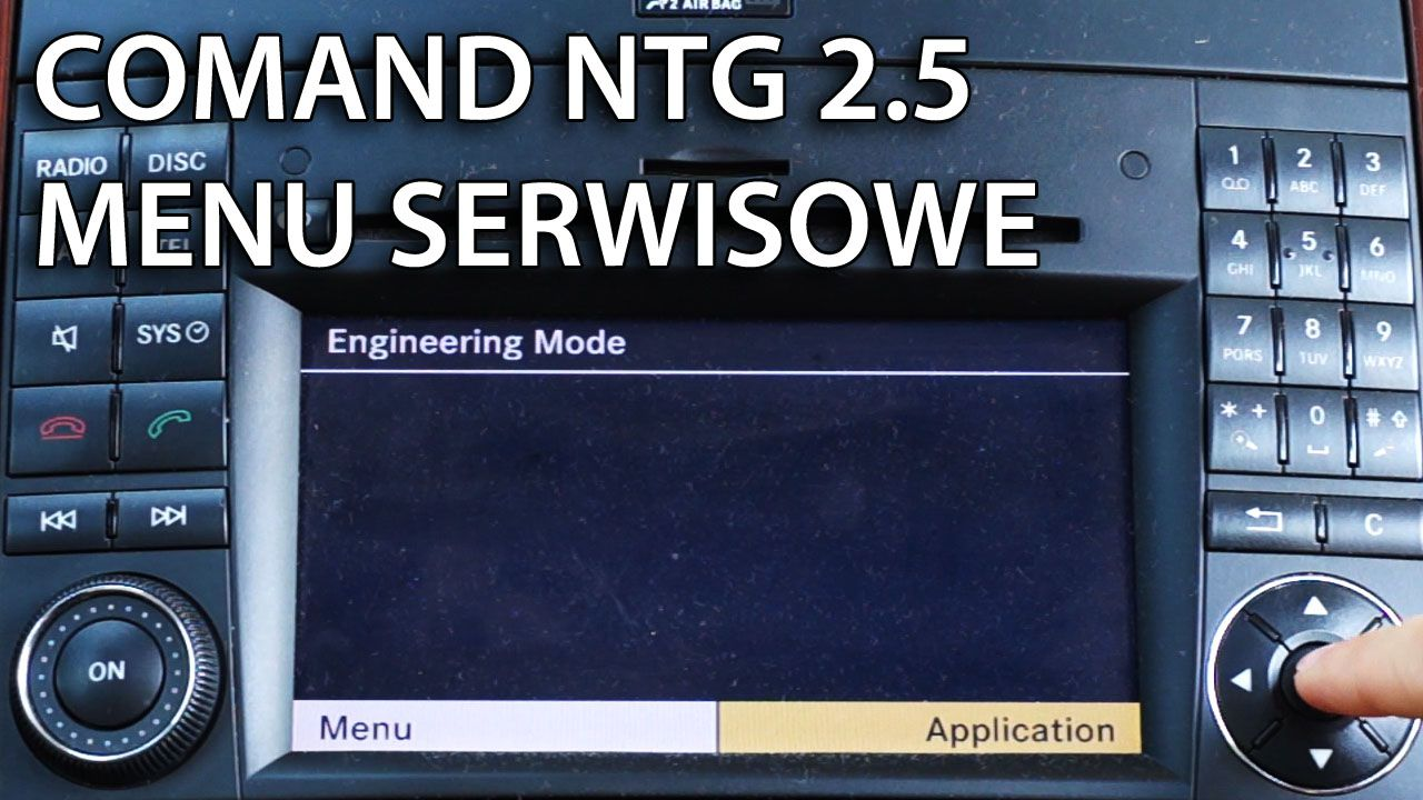 Mercedes COMAND APS NTG 2.5 Ukryte menu