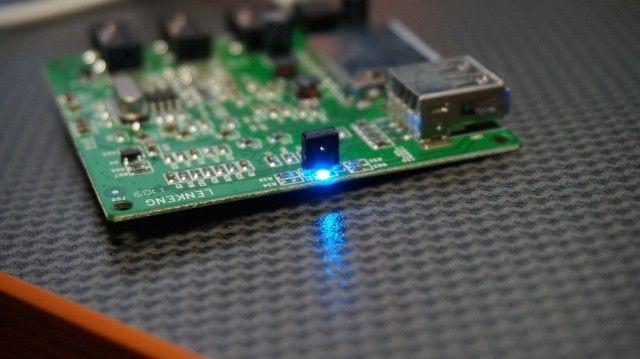 Odbiornik podczerwieni oraz LED zasilania