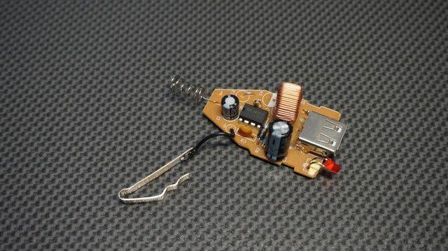 Rozebrana ładowarka 5V
