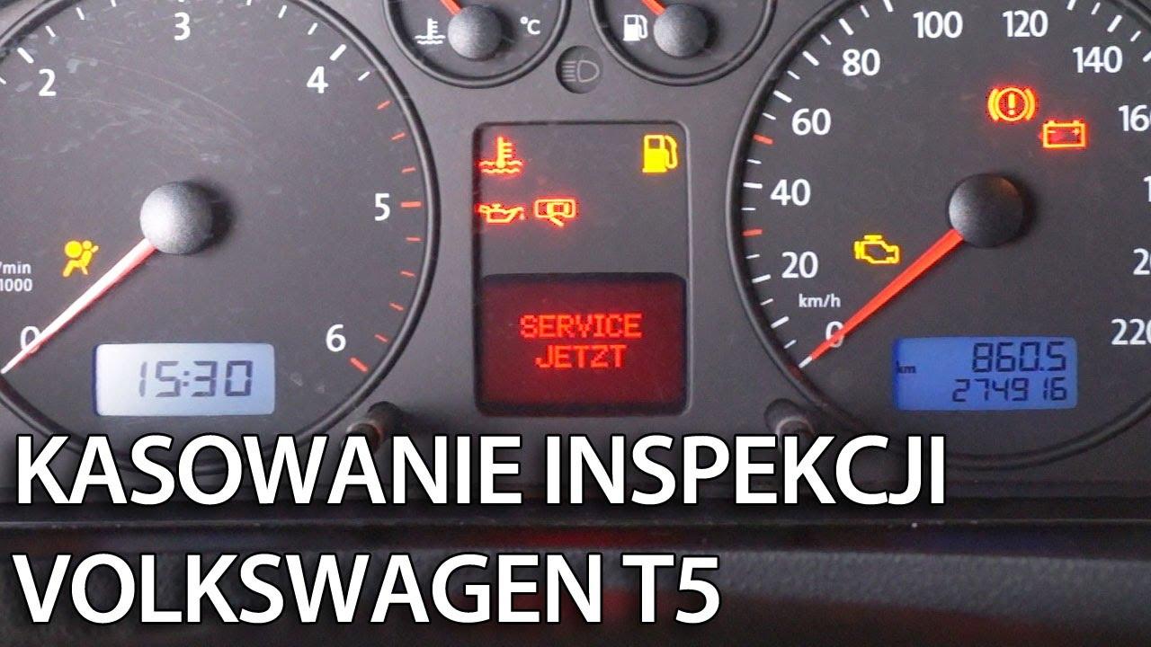 VW T5 kasowanie inspekcji