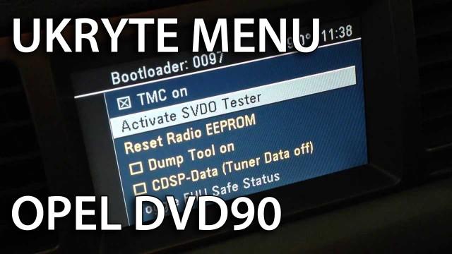 Ukryte menu Opel DVD90 (testmode, tryb serwisowy)