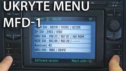 Ukryte menu serwisowe MFD 1