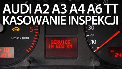 Kasowanie inspekcji audi A2, A3 8L, A4 B6, A6 C4, TT po roku 2000