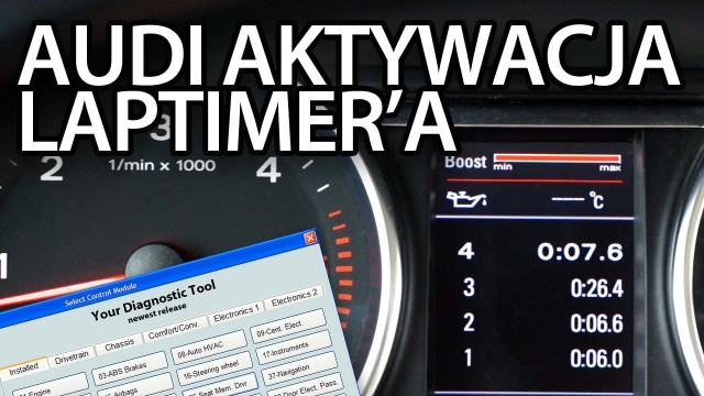Audi laptimer doładowanie temperatura oleju