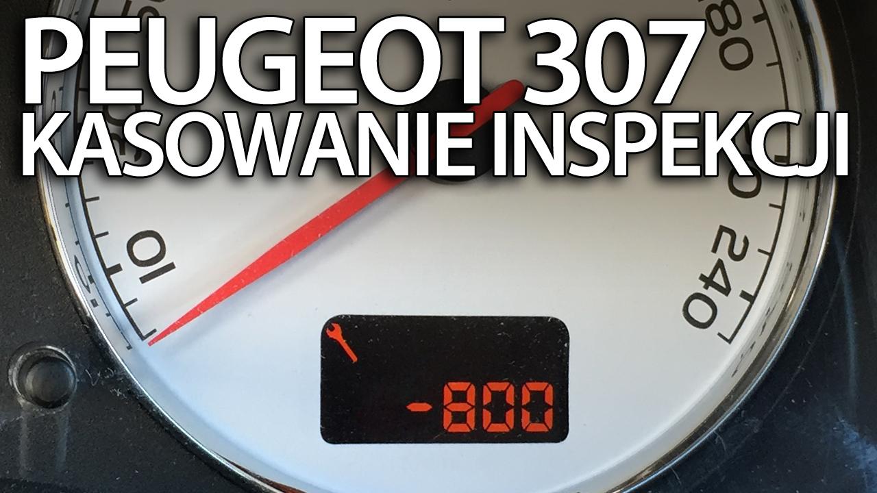 kasowanie inspekcji Peugeot 307