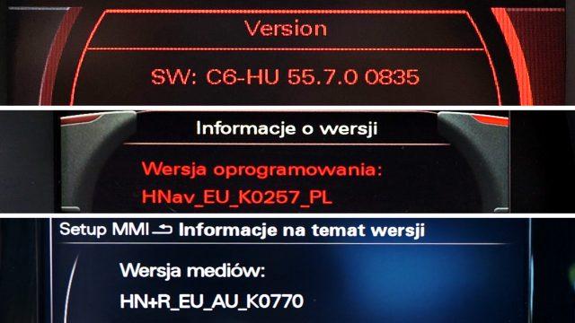 Rodzaje systemów nawigacji Audi - 2G 3G 3G+ RMC RNS