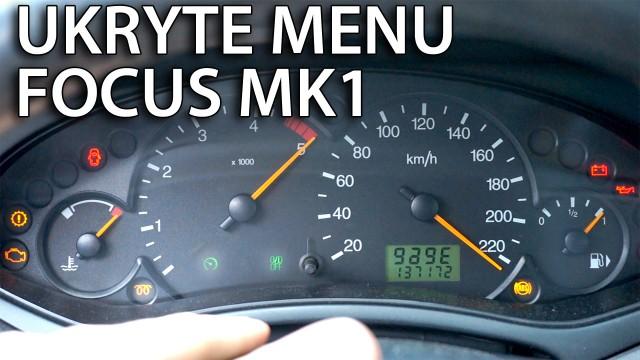 Ford Focus MK1 tryb serwisowy ukryte menu zegarów