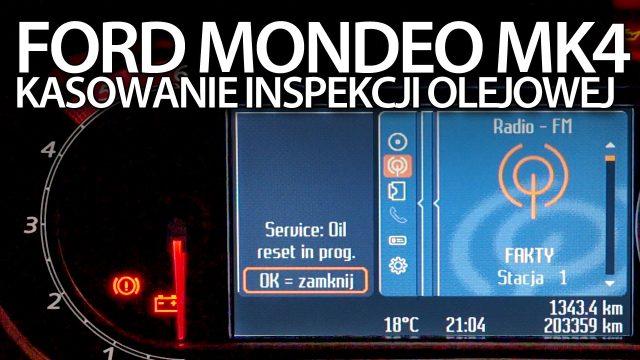 Kasowanie inspekcji Ford Mondeo MK4