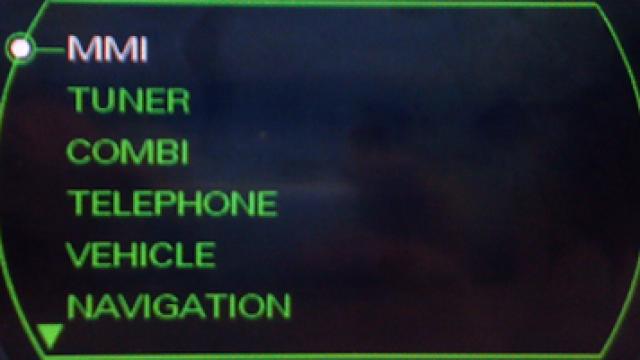 Odblokowanie ukrytego menu w Audi MMI 2G