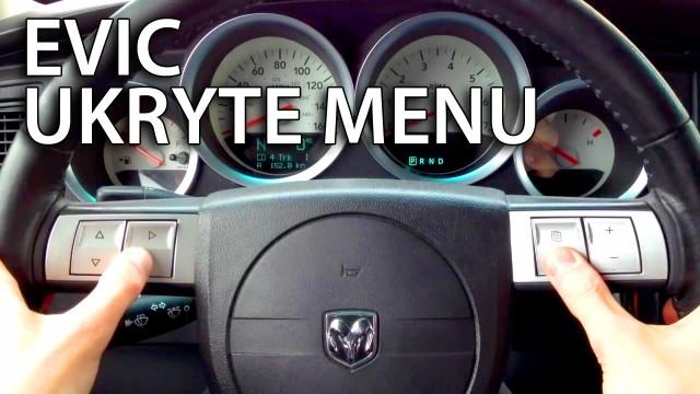 Ukryte menu EVIC MOPAR (Dodge, Jeep, Chrysler)