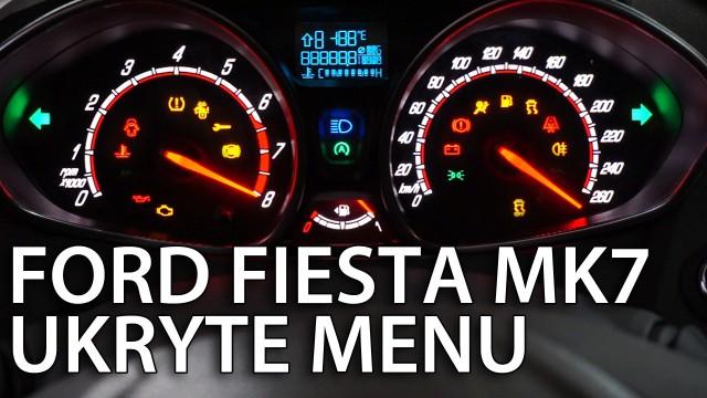 Ukryte menu zegarów Ford Fiesta MK7