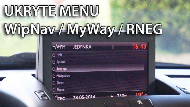 Ukryte menu RNEG, WipNav, MyWay