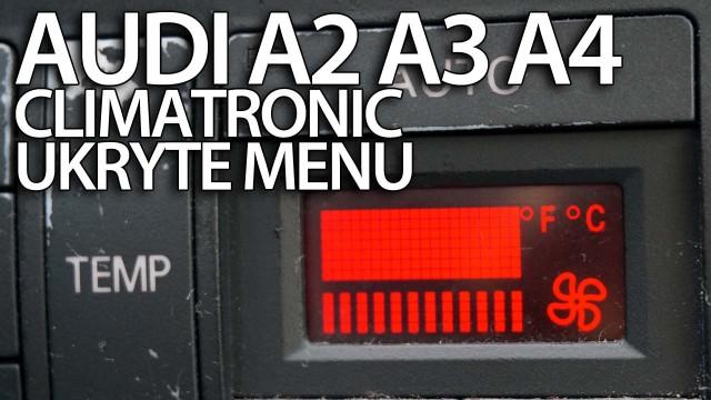 Climatrionic ukryte menu A2, A3 8L, A4 B6