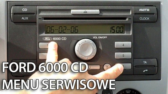 Menu serwisowe Ford 6000 CD