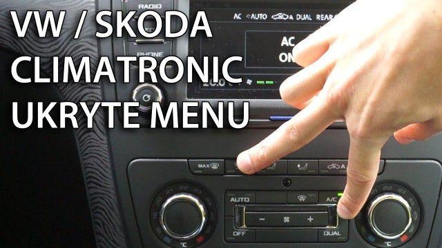 Ukryte menu climatronic VW Škoda