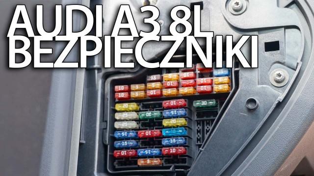 Przekaźniki i bezpieczniki Audi A3 8L