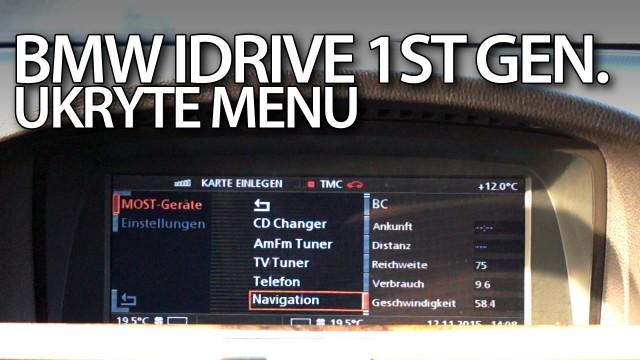 Ukryte menu BMW iDrive 1st gen